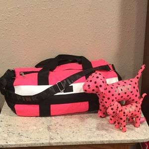 PINK duffle, Large & Mini dogs